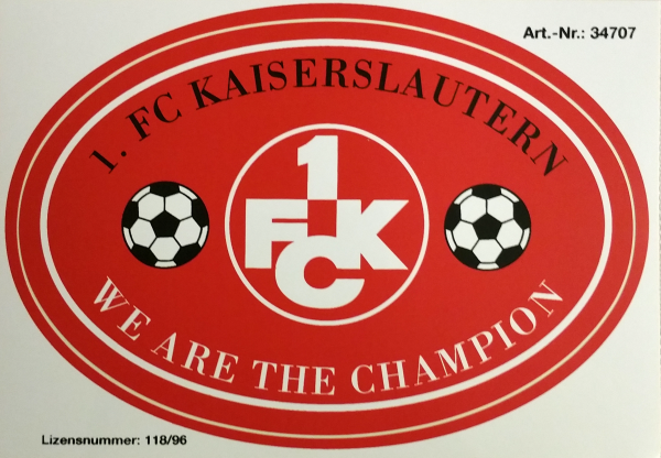 Aufkleber We are the Champion